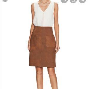 Akris Women's Brown Leather Mini Skirt